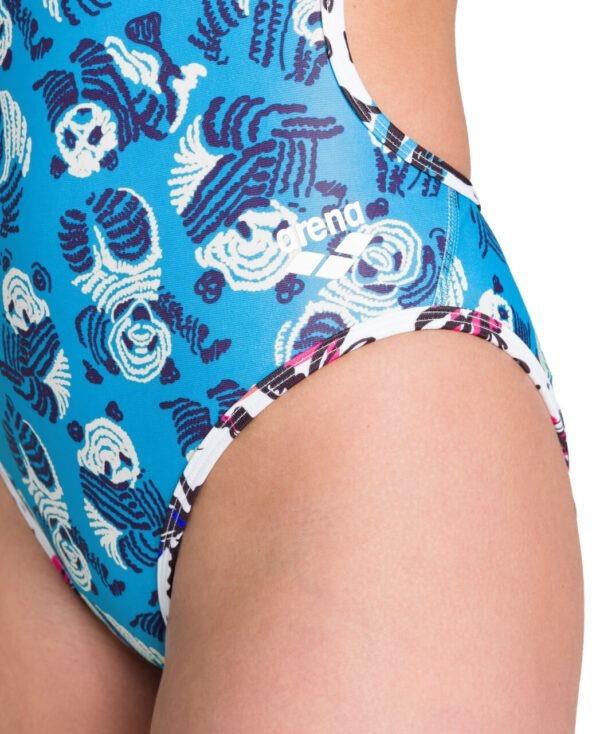 COSTUME INTERO ARENA PANDA REVERSIBLE Tessuto MaxLife asciuga velocemente ed ha al suo interno la protezione 50+ ampia scollatura posteriore bretelle sottili