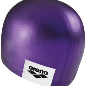 cuffia silicone arena viola con logo laterale