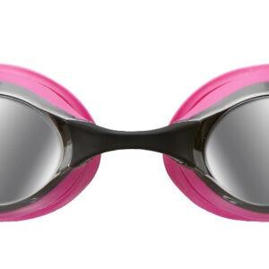 occhialini nuoto arena cobra mirror rosa lenti specchio