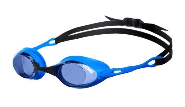 occhialini nuoto arena cobra azzurri lenti azzurre