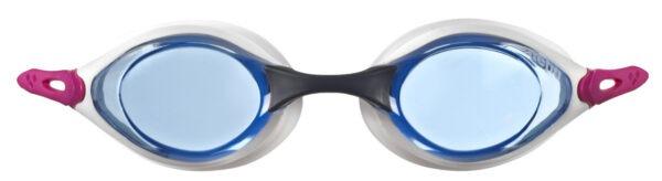 occhialini nuoto arena cobra fucsia lenti azzurre