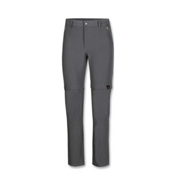 Pantaloni lunghi da uomo di Nordsen con gamba staccabile tramite zip realizzati in tessuto bielastico, traspirante