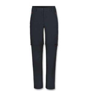 Pantaloni lunghi da trekking con gamba staccabile tramite zip realizzati in tessuto bielastico, traspirante, che favorisce l'espulsione dell'umidita' verso l'esterno
