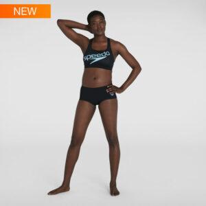 Bikini donna allenamento Speedo colo logo grande davanti