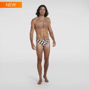 costume Speedo Allover 8 cm tessuto 100% resistente al cloro Endurance+ Stampa digitale premium