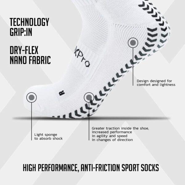 Calza Grip Sox Pro Classic Bianco