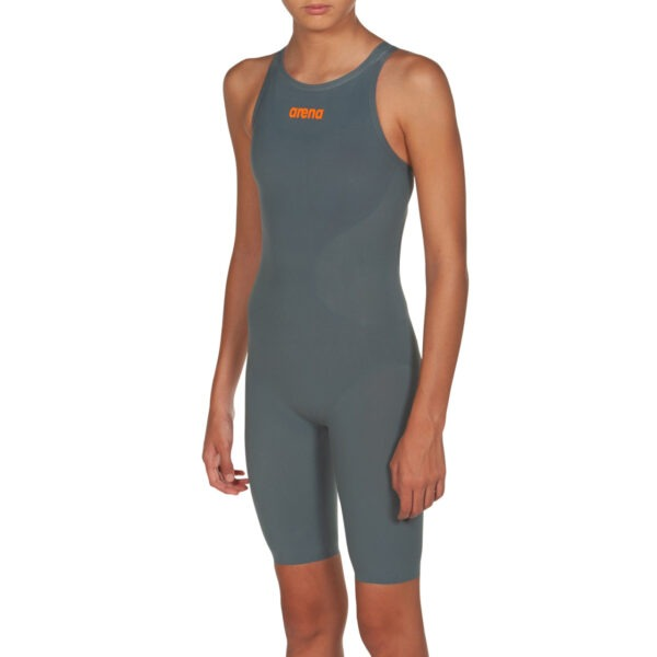 costume competizione bambina arena r-evo one grigio vestibilità posteriore aperta