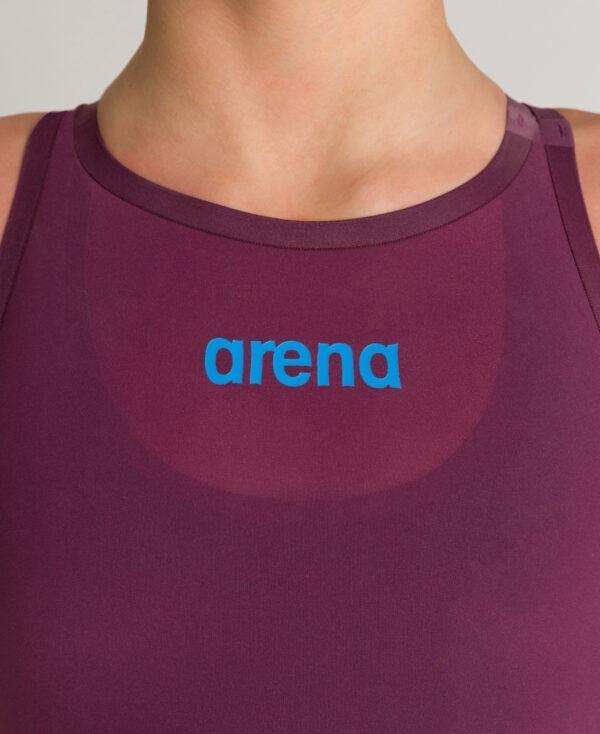 costume competizione bambina arena r-evo one red wine vestibilità posteriore aperta
