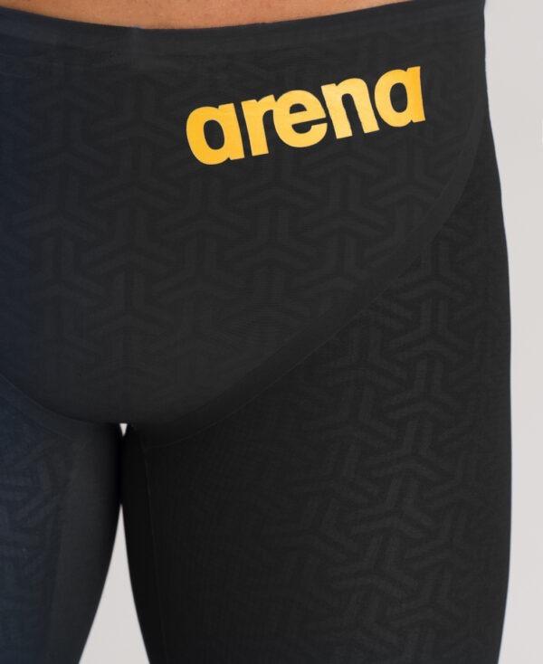 costume competizione uomo arena nero particolare logo