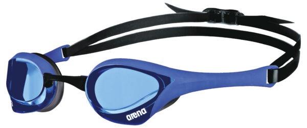 occhialini nuoto arena cobra ultra swipe unisex azzurro lente azzurra
