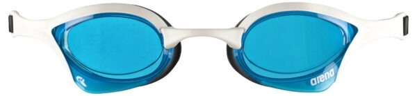 occhialini nuoto arena cobra ultra swipe unisex bianco lente azzurra