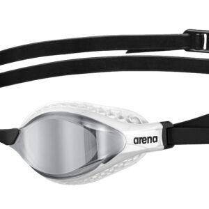 occhialini Air Speed Mirror di Arena modello, pensato per il nuoto competitivo, ha delle speciali guarnizioni con struttura a nido d'ape, che aderiscono perfettamente alla forma del tuo viso studiate per ridurre la pressione intorno agli occhi