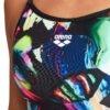 costume intero da donna Colorful Lace Back Arena per l'allenamento Tessuto MaxLife Tessuto MaxLife asciuga velocemente protezione 50+ Vestibilità aderente e ampia sgambatura davanti è foderato per una maggiore copertura