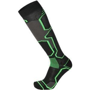 Calza MICO Ski Performance Medium Weight Cucitura piatta invisibile anti-frizione Rinforzi anatomici L+R - Inserti di protezione frontali - Fasce elastiche alla caviglia e nell'arco plantare