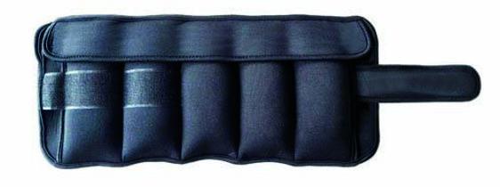 coppia di polsiere/cavigliere da 2,5 kg cadauna con pesi da 0,5 estraibili chiusura regolabile con velcro