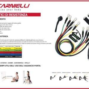 Kit Elastici Carnielli FITNESS TUBE CE3 permettono un allenamento ad alta intensità di forza, fare esercizi di stretching e di tonificare braccia e gambe