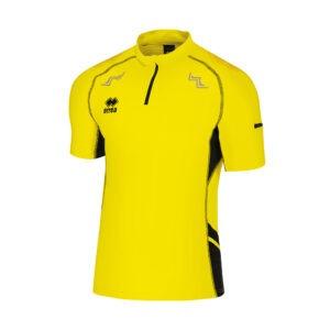 Eldorado di Erreà è la t-shirt manica corta ideale per il running Taschino con cerniera sulla manica e sul retro mezza zip con accorgimento per il collo