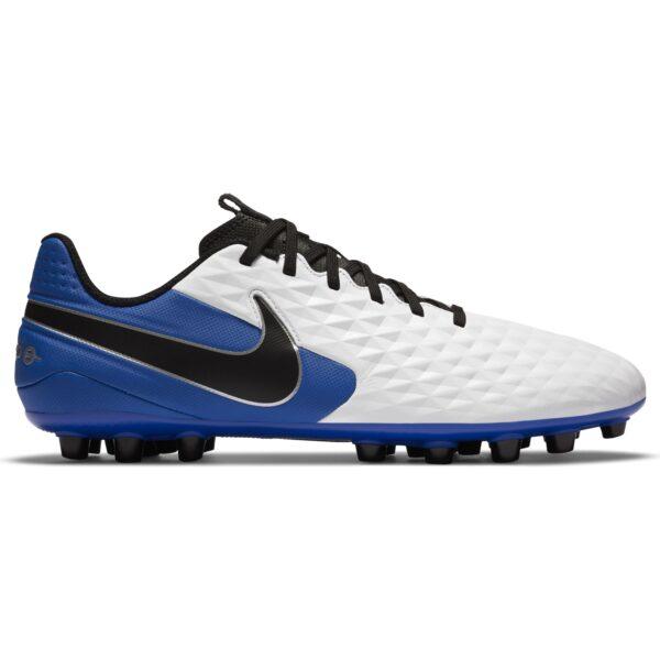 scarpa da calcio Nike Tiempo Legend 8 Academy AG pelle di vitello piatto suola ricco di tacchetti rotondi adatte ai campi in erba sintetica
