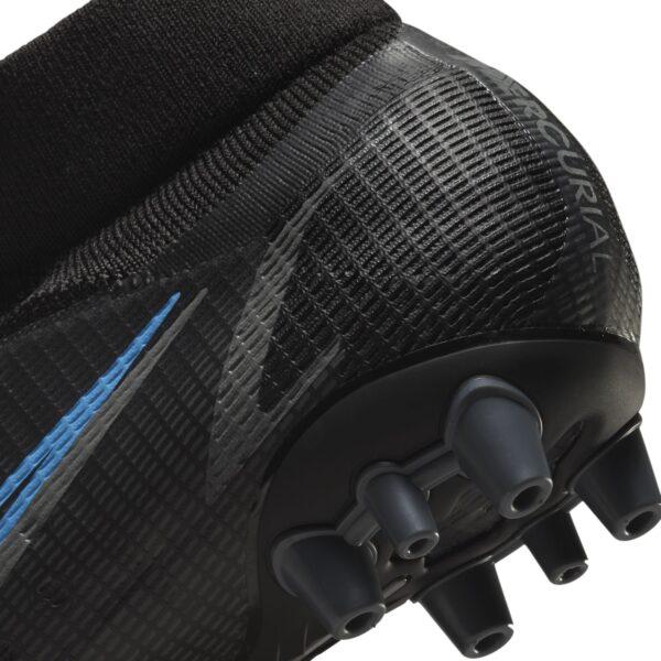 Nike Mercurial Superfly 8 Pro AG COLORE NERO SUOLA POSTERIORE