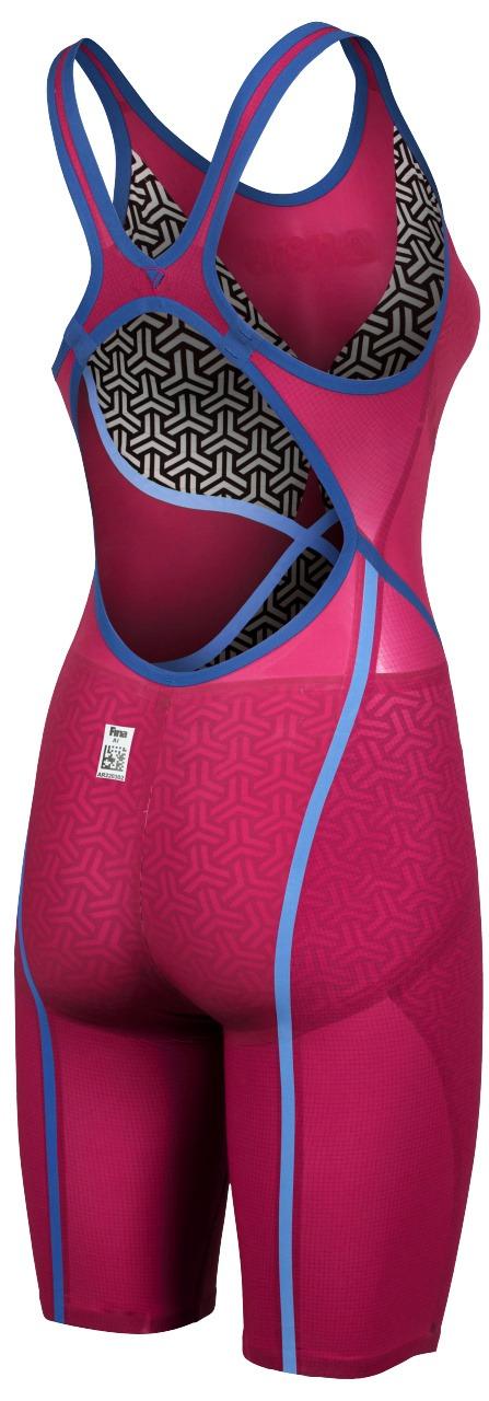 Powerskin Carbon-Glide Vestibilità Posteriore Aperta Donna Arena raspberry red dietro profilo