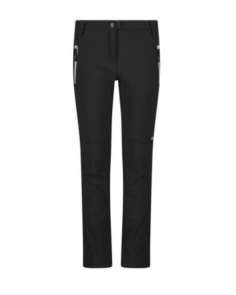 Pantaloni da bambina in softshell slim fit con fondo largo CMP DAVANTI