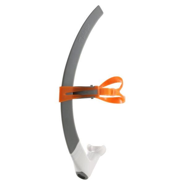 Tubo Michael Phelps FOCUS SNORKEL grigio/arancio
